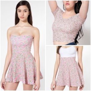 American Apparel Floral Convertible Top/Skirt Set